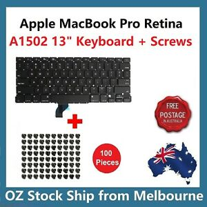 """KM ENERGY French Keyboard For Apple MacBook Pro Retina 13"""" A1502 2013 - Black"""