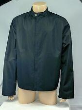 EUC Salvatore Ferragamo Black Lightweight Front Zip Jacket Men's Large