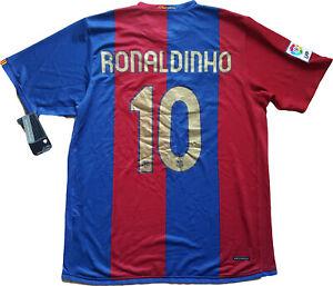 a51b39ce1 Caricamento dell'immagine in corso maglia -Ronaldinho-barcellona-home-Barca-10-NIKE-2006-