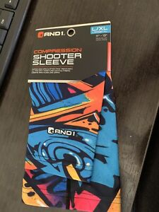 AND1 Compression Shooter Basketball Arm Sleeve Colorful  Print Mens L XL S M NEW