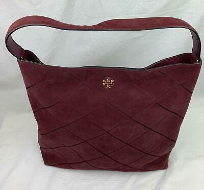 e091488b9ab Tory Burch Frida Stitched Suede Hobo Bag   eBay