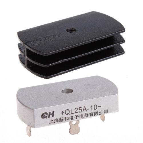 3Set 25A 1000V Volt Metal Case Bridge Rectifier with Heatsink QL25A