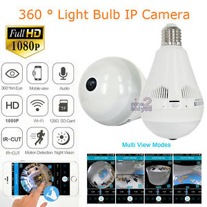 Mini Camcorders 1080p Wireless Ip Camera E27 Led Bulb Light Panoramic Wi-fi Lamp Fisheye Lens Wifi Camera Cctv Home Security P2p Secret Cam