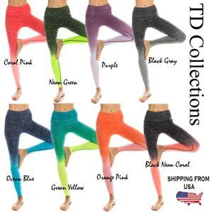 ba1bbff57b782 Image is loading Women-High-Waist-Full-length-Sports-Leggings-Yoga-