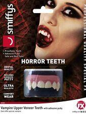 Halloween Fancy Dress Horror Deluxe Teeth Vampire Dracula Fangs New by Smiffys