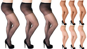 Aurellie-Women-Sheer-20-Denier-Lycra-Tights-3-Colours-UK-sizes-16-18-20-22