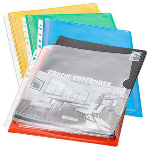 Farben EICHNER 10x DIN A4 Dehnfaltentasche Dokumentenhülle Prospekthülle versch