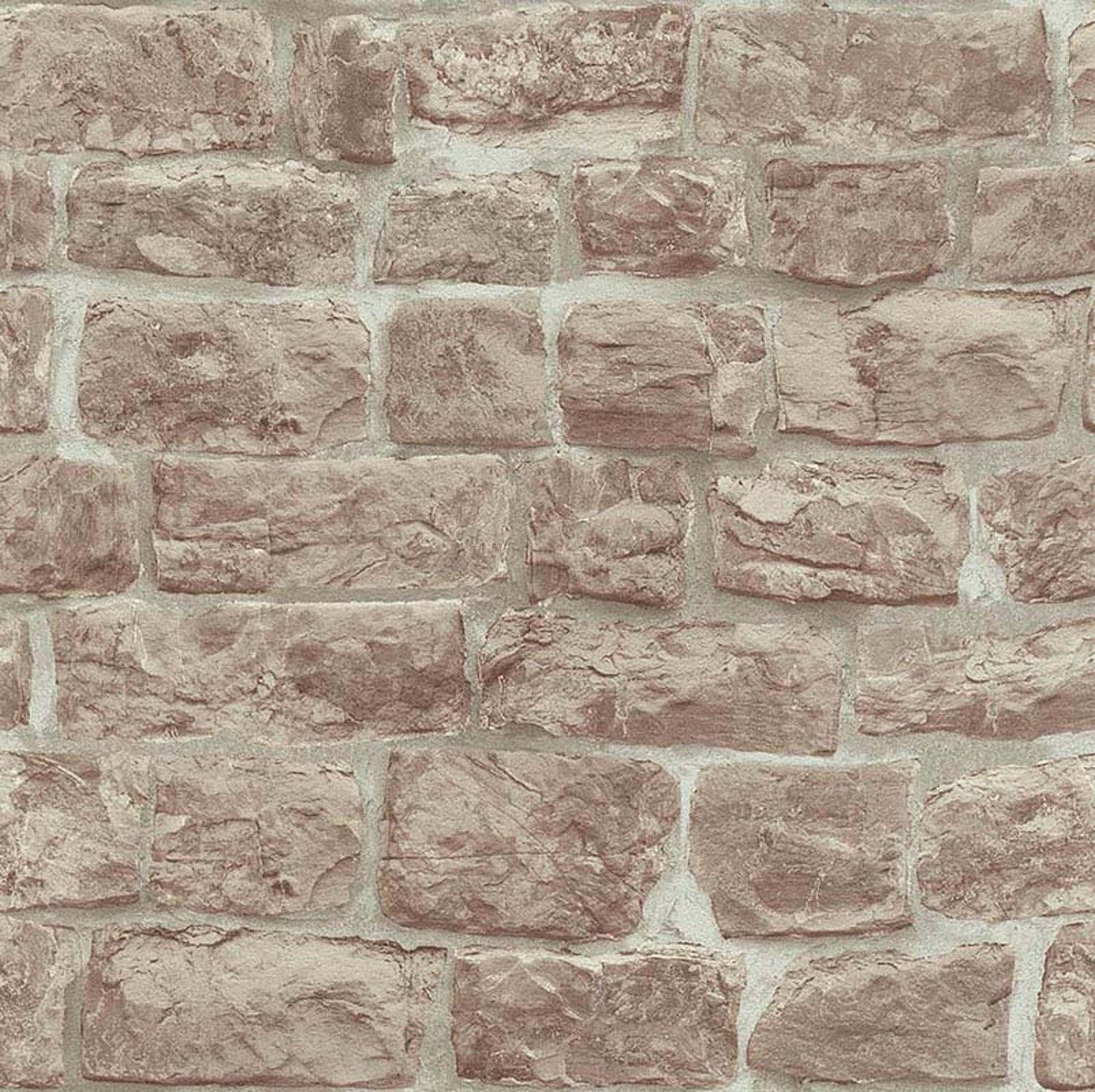 Erismann Papier Peint Rustique Rustique Beige Briques Mur De