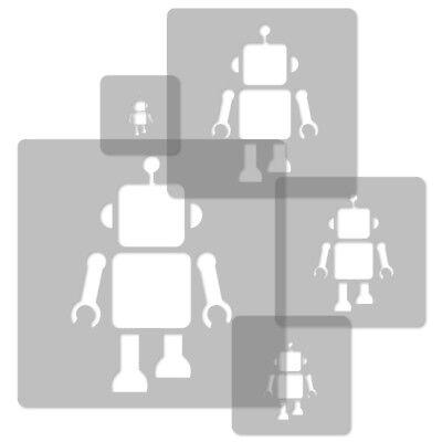 34x34cm To 9x9cm Good 5x Reusable Plastic Stencils Nursery Kids Template // Robot Long Performance Life
