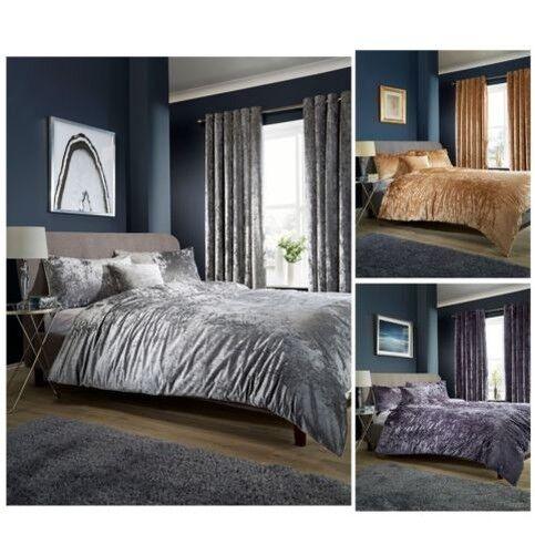 Olivia Rocco Zerdrückter samt Bettdecke Bettbezug Set, Doppelbett Größe