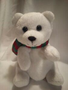 """2011 TY Beanie Baby 6"""" SNOWDROP the Holiday Polar Bear Christmas EUC"""