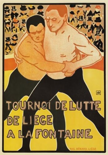 AP49 Vintage French Wrestling Cork Fountian Advertisement Poster A1//A2//A3//A4