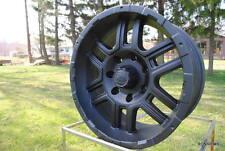 179 ION  17X8 MATTE BLACK 7 LUG (7 ON 150 MM ) FORD F150/250 WHEELS W LUGS