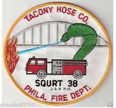 """Philadelphia  Squrt-72  /""""Dragon Slayers of Logan/"""" 4/"""" x 4/"""" size PA fire patch"""