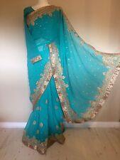 Beautiful Indian Saree Sari With Long Sleeve Blouse