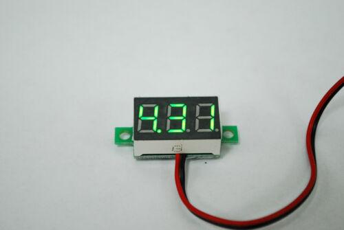 "2pcs   DC2.5-30V Two Wires Digital Voltmeter 0.36/"" GREEN LED Display A235"