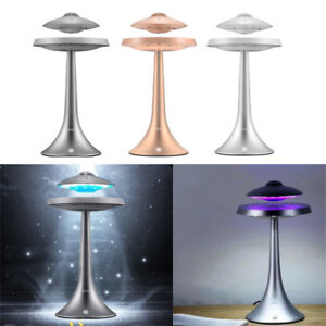 Details about Creative magnetic levitation floating LED table lamp with UFO Bluetooth speaker