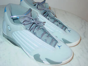 4b363c0ac54491 2014 Nike Air Jordan Retro 14 Wolf Grey Sport Blue Cool Grey Shoes ...