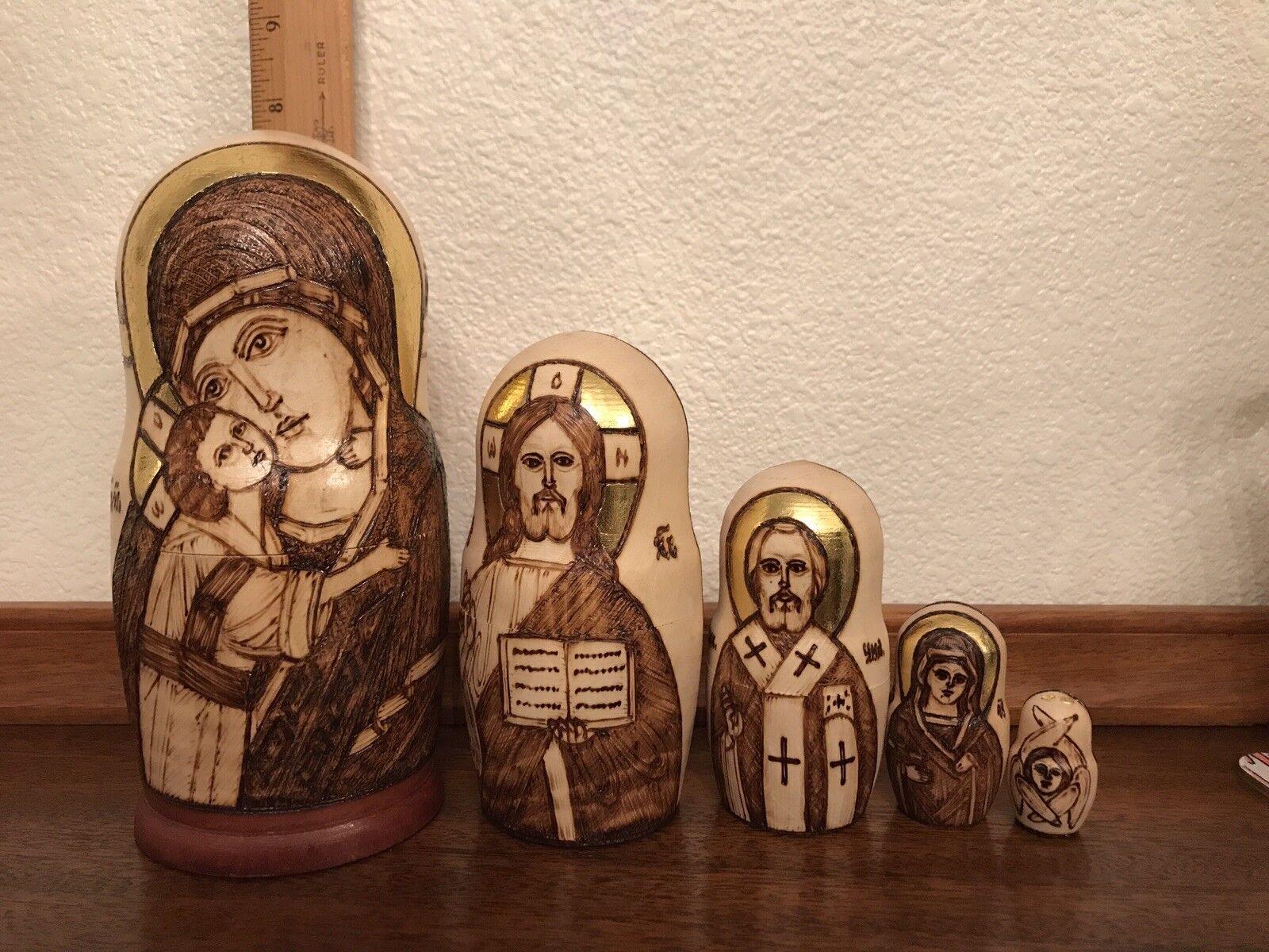 Russian matryoshka nesting dolls Religios Design Icons