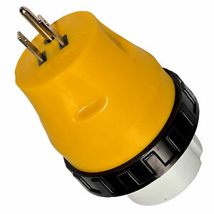 image is loading hqrp-rv-electrical-locking-adapter-15a-male-50a-
