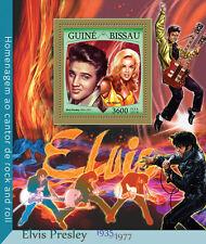 Guinea-Bissau 2016 MNH Elvis Presley Rock 'n Roll 1v S/S Music Stamps
