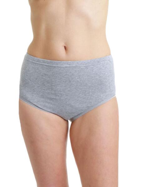 LisaModa Seamless Taillenslip 6er Pack Stretch Baumwolle schwarz grau beige weiß