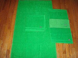 LACOSTE-GREEN-2-BATH-TOWEL-amp-2-HAND-TOWEL-SET