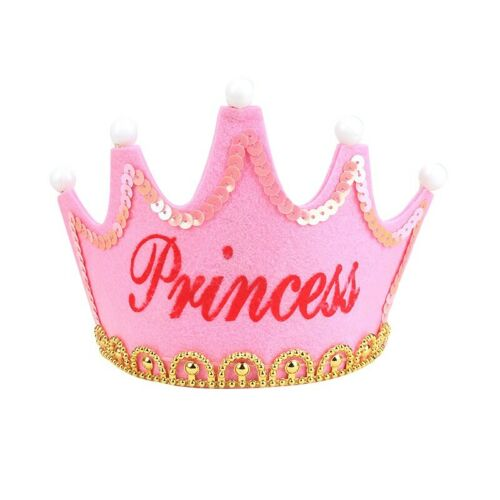 Birthday Party Led Hat Decor Hair Accessory Baby Girl Princess Crown Photo Props