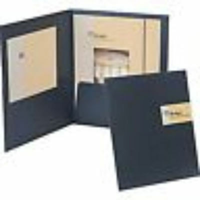 Oxford Your Style Custom Card Folio Black 50682 with pocket   20 report covers