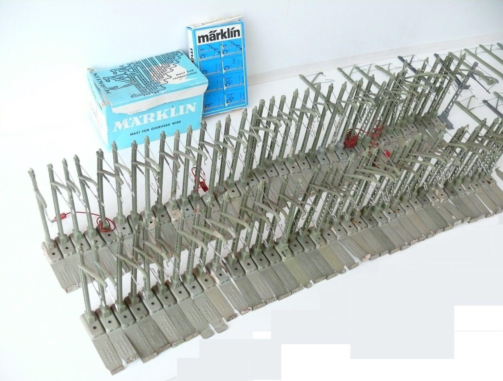 Märklin h0 la raccolta-circa 80 rossote pali con attrezzature + PIEDE USATO (201)