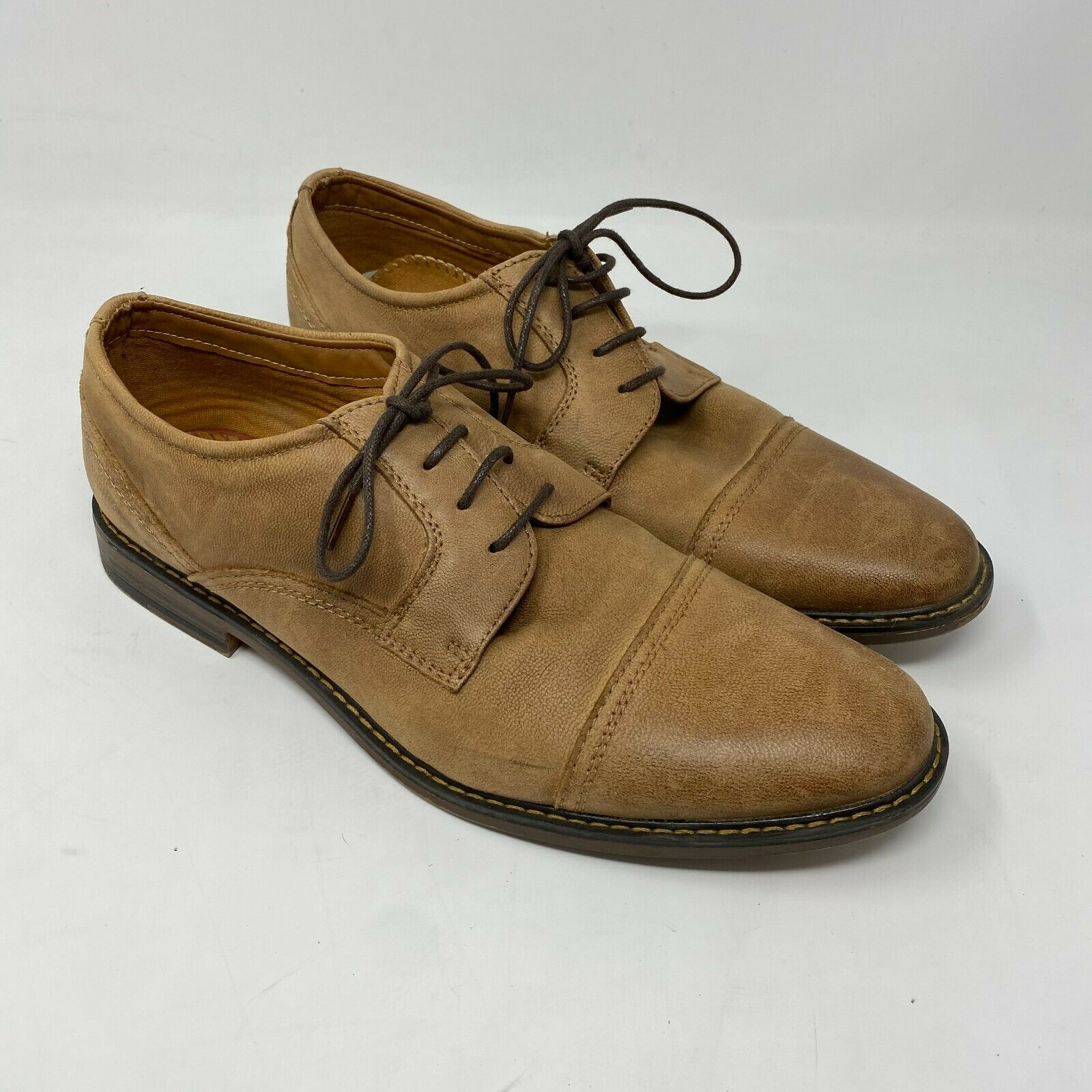 J75 by jump Paulson cap toe oxford shoes sz 10 brown Leather