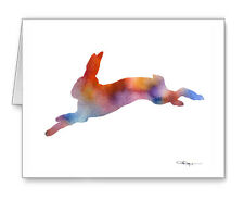 HARE RUNNING Note Cards With Envelopes