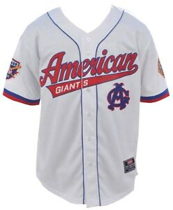 reputable site 356ca 6107c Details about NLBM Mens Chicago American Giants Baseball Jersey White