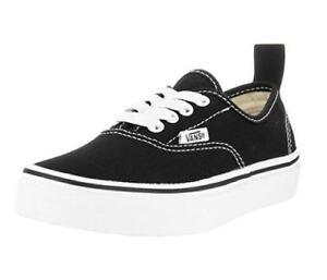 90e19fcc2b KIDS VANS OFF THE WALL (Elastic Lace)  Authentic  Shoes Black White ...