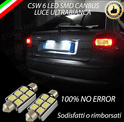 CUHAWUDBA 2Pz Lampadine per Targa Un LED Senza Errori 18Smd Lampada per Targa Un LED Bianca per Lancer X Evo 2003-2017
