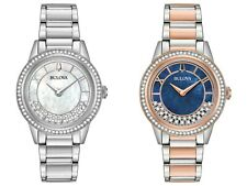 Bulova Women's Quartz Swarovski Crystal Accents Multiple Dial Color 32mm Watches