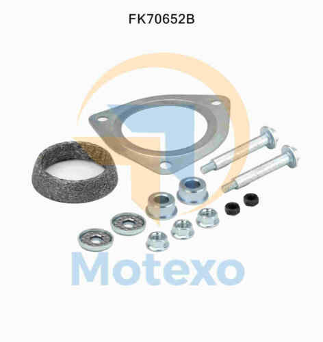 Fitting Kit 2yr Warranty BM70652 Exhaust Front Pipe