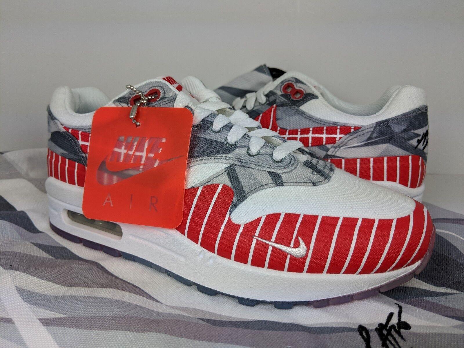 Nike Air Max 1 Los Primeros Latino Heritage Month LHM Grey Red [AH7740-100] sz 6