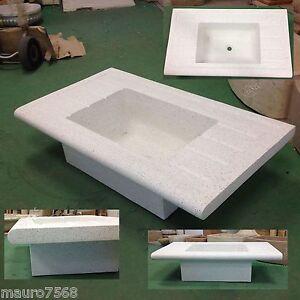 Lavabo in graniglia di marmo pietra lavello lavandino incasso cucina acquaio ebay - Lavello cucina in pietra ...