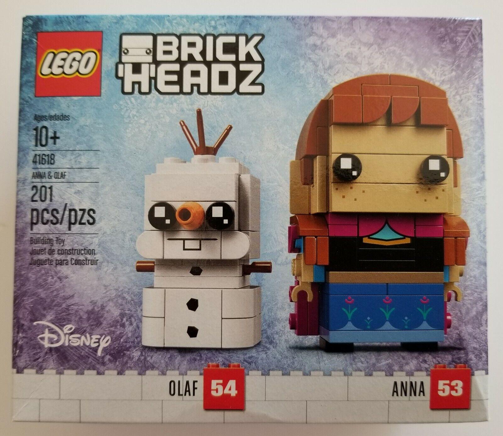 LEGO Brickheadz 41618 Disney Frozen Anna /& Olaf 53 /& 54 ~NEW~
