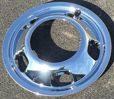 "New DODGE RAM 3500 Dually Dual 1-ton Chrome FRONT Wheel 17"" SIMULATOR Wheelcover"
