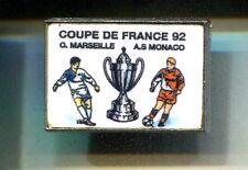 RARE PINS PIN'S .. FOOTBALL SOCCER OM O.M MARSEILLE CLUB COUPE 92 MONACO A.S ~CT