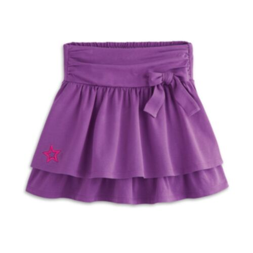 American Girl CL MY AG BOW SKIRT SIZE SMALL 78 for Girl Purple Star NEW