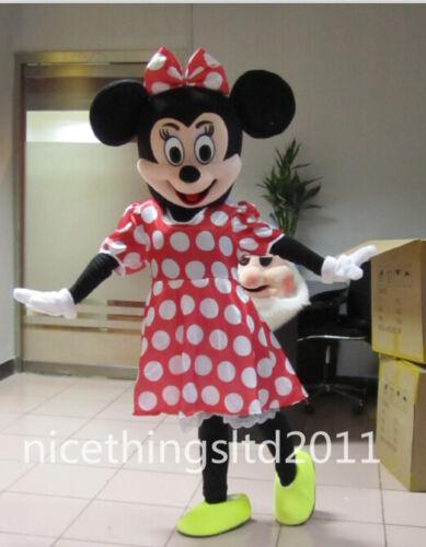 Mickey Minnie Mascot Costume TWO PCS  Adult size Foam Head Free Shipping to UK