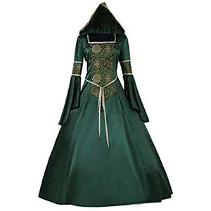 7bdf198a3ea1d2 Image is loading Womens-Renaissance-Gown-Costume-Medieval-2XL-Dress-Green-
