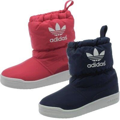 Adidas Slip on Boot K Kinder Schneestiefel pink blau