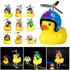 Car-Small-Yellow-Duck-Broken-Wind-Duck-Rotating-Bamboo-Raft-Bike-Horn-Bell-Decor