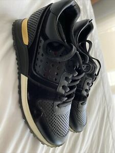 Louis vuitton Black And Gold Sneakers Size 36