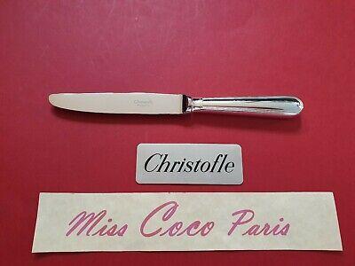 COUTEAU TABLE CHRISTOFLE FRANCE CONCORDE 23 CM ETAT NEUF METAL ARGENTE