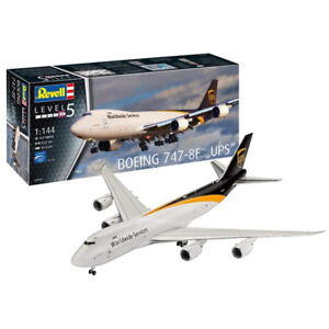 Revell-Boeing-747-8F-034-UPS-034-Aeroplane-Model-Set-Level-5-Scale-1-144-03912-NEW